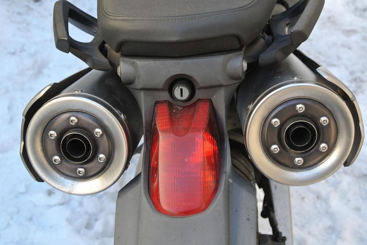 pollution à moto